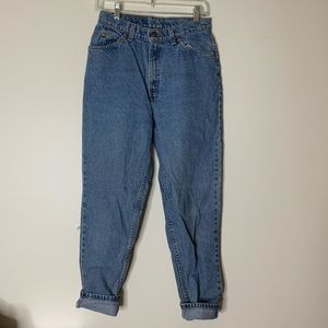 Levi high waisted denim jeans